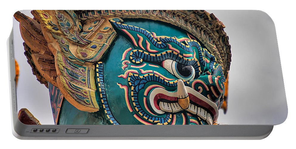 3scape Portable Battery Charger featuring the photograph Khmer Guard by Adam Romanowicz
