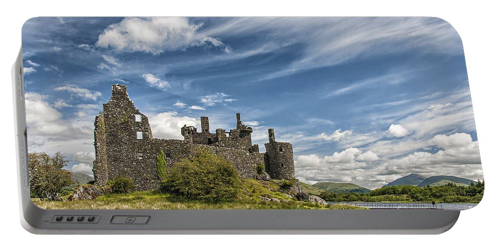 Scotland Portable Battery Charger featuring the photograph Kilchurn Castle 01 by Antony McAulay