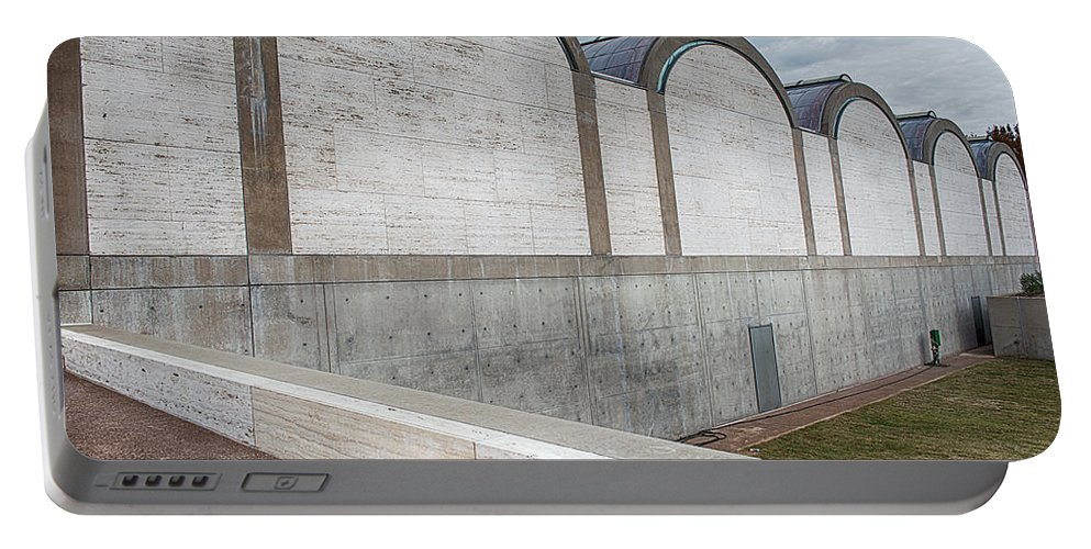 Kimbell Art Museum Portable Battery Charger featuring the photograph Kimbell Art Museum Fort Worth 3 by Rospotte Photography