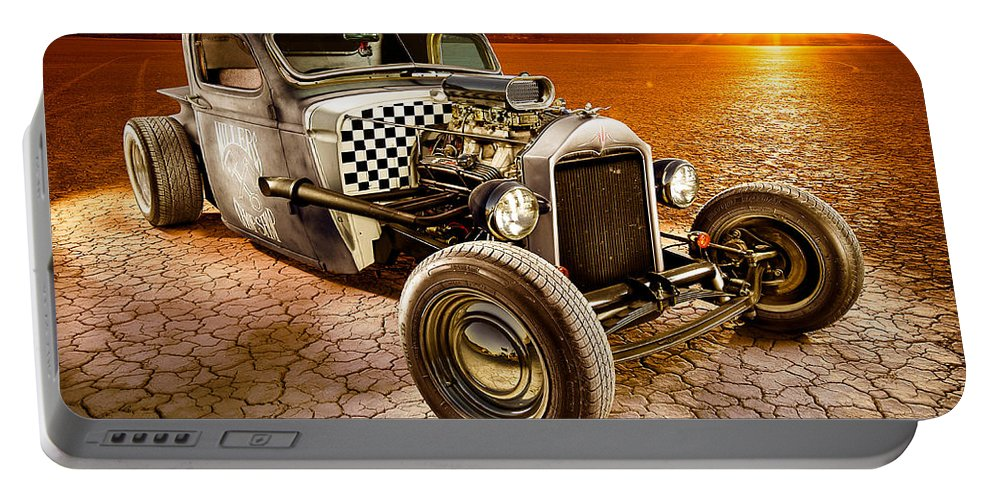 Car Portable Battery Charger featuring the photograph Millers Chop Shop 1946 Chevy Truck by Yo Pedro