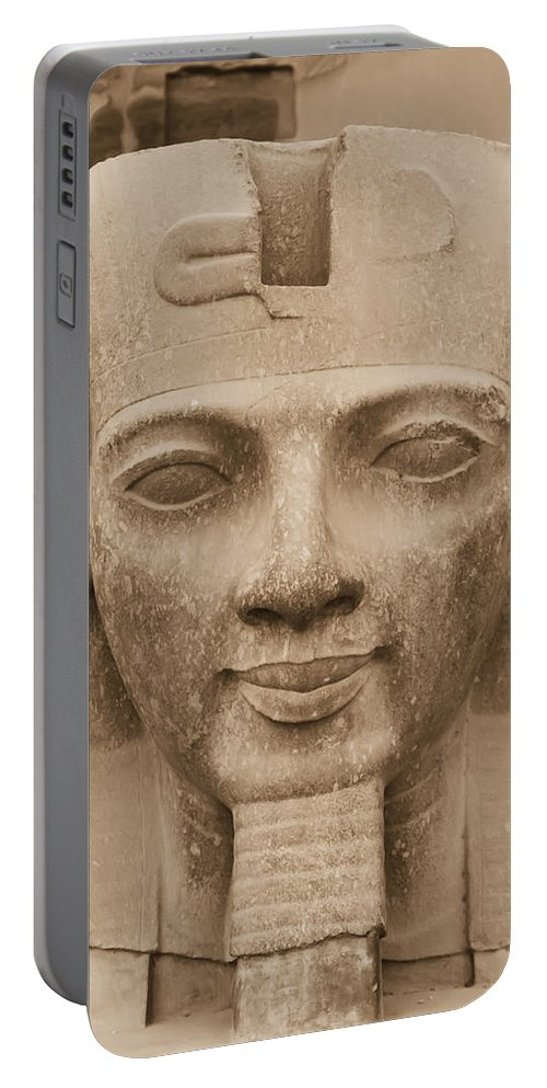 Destination Portable Battery Charger featuring the photograph King Ramses II by Jaroslav Frank