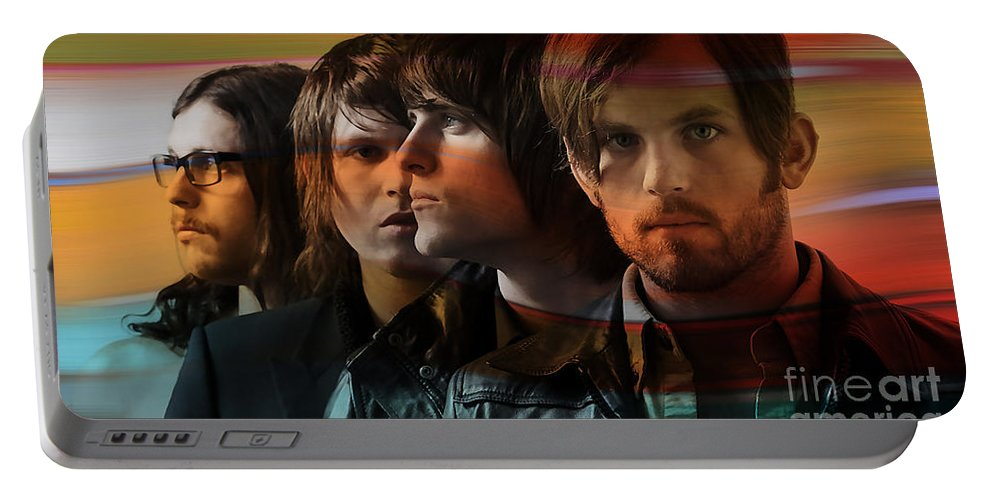Kings Of Leon Photographs Portable Battery Charger featuring the mixed media Kings Of Leon by Marvin Blaine