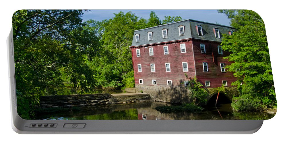 Kingston Portable Battery Charger featuring the photograph Kingston Mill Princeton Nj by Bill Cannon