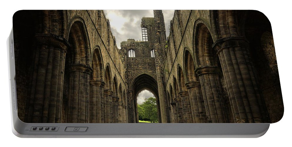 Kirkstall Portable Battery Charger featuring the photograph Kirkstall Abbey by Pablo Lopez