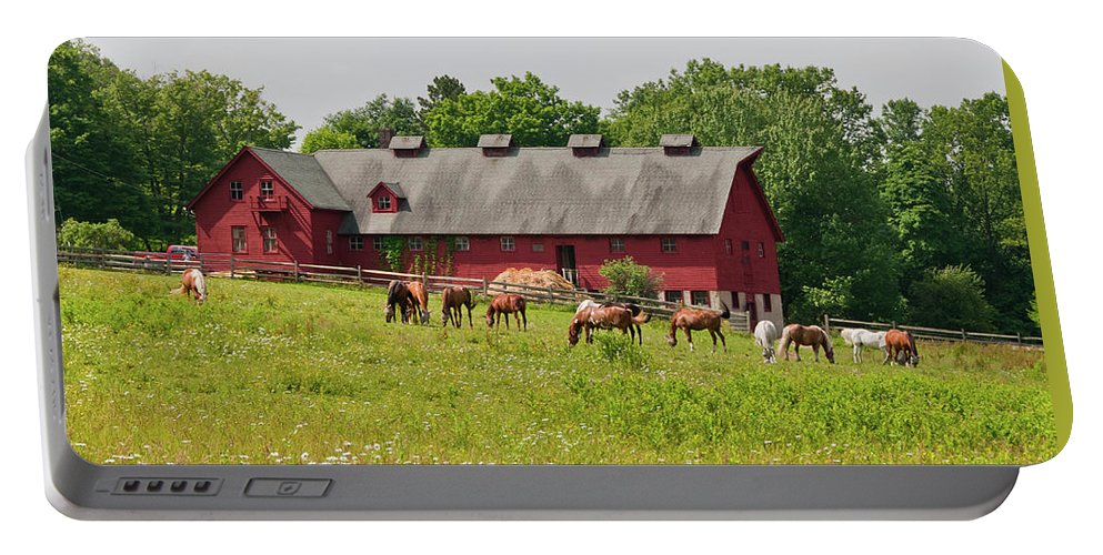 Barn Portable Battery Charger featuring the photograph Kirtland Hills Farm 0722 by Guy Whiteley