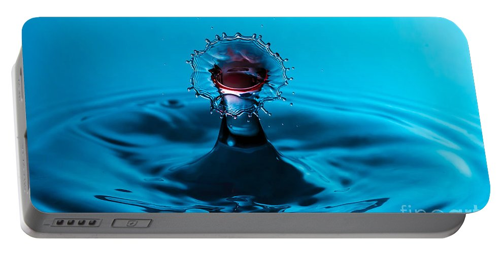 Water Portable Battery Charger featuring the photograph Kiss Me Splash by Anthony Sacco