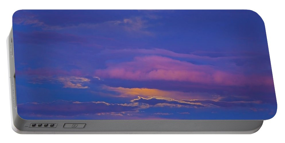 Cloud Portable Battery Charger featuring the photograph Kiss The Sky by Greg Wells