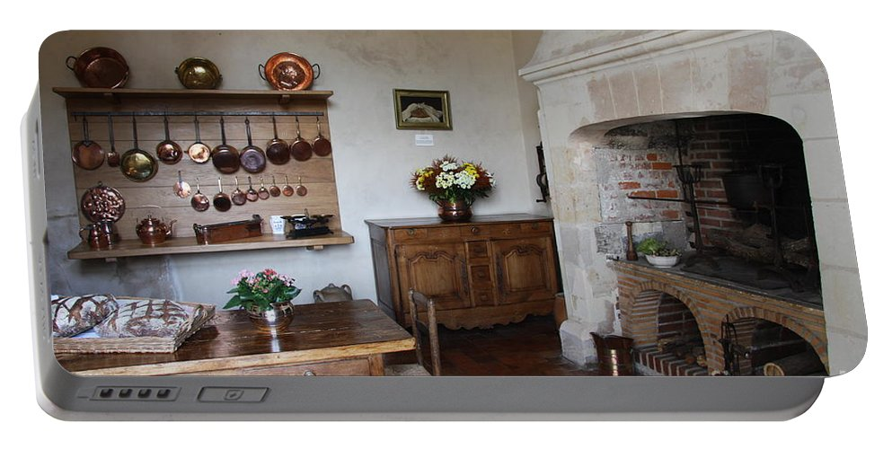 Kitchen Portable Battery Charger featuring the photograph Kitchen At Chateau Villandry by Christiane Schulze Art And Photography