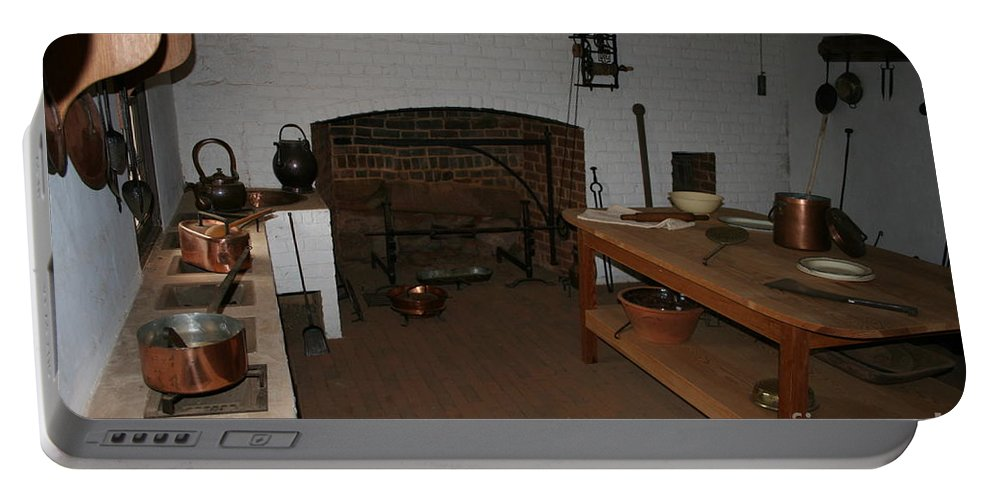 Kitchen Portable Battery Charger featuring the photograph Kitchen At Monticello by Christiane Schulze Art And Photography