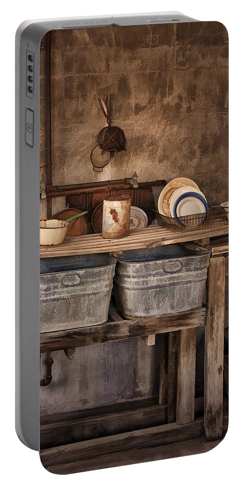 Kitchen Portable Battery Charger featuring the photograph Kitchen Duty by Priscilla Burgers