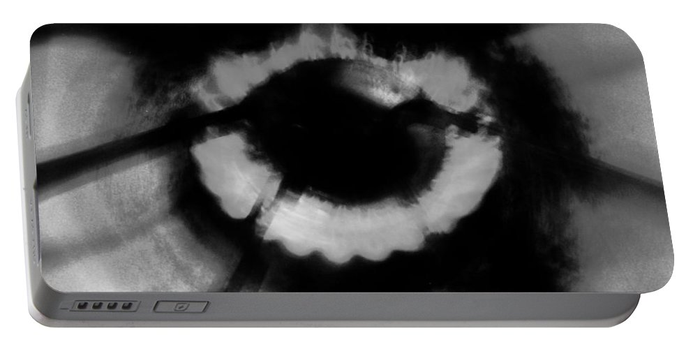 Black Portable Battery Charger featuring the photograph Kitchens Have Eyes by Jessica Shelton