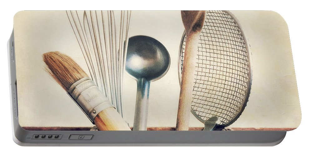 Cook Portable Battery Charger featuring the photograph Kitchenware by Priska Wettstein