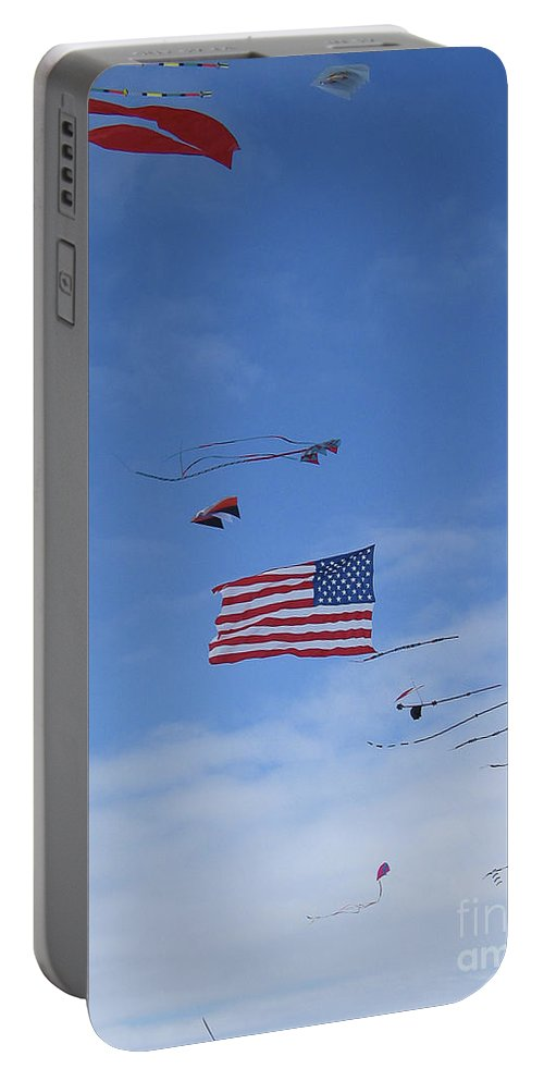 Kites Portable Battery Charger featuring the photograph Kites On Ice by Steven Ralser