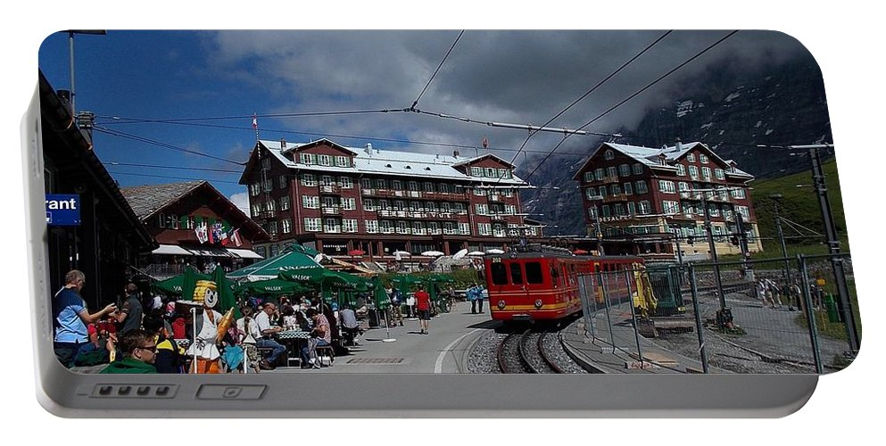 Kleine Portable Battery Charger featuring the photograph Kleine Schedegg Switzerland by Nina Kindred