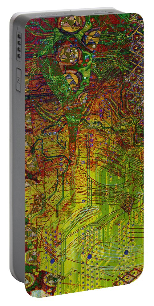 Digital Art Portable Battery Charger featuring the digital art Klimt Honor Whole by Mary Clanahan
