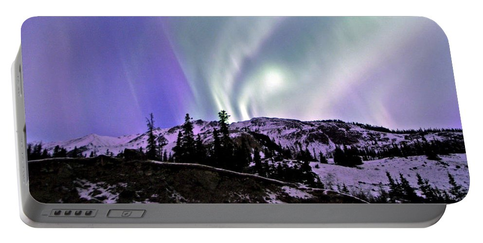 Landscapes Portable Battery Charger featuring the photograph Kluane Curtain by Jeremy Rhoades
