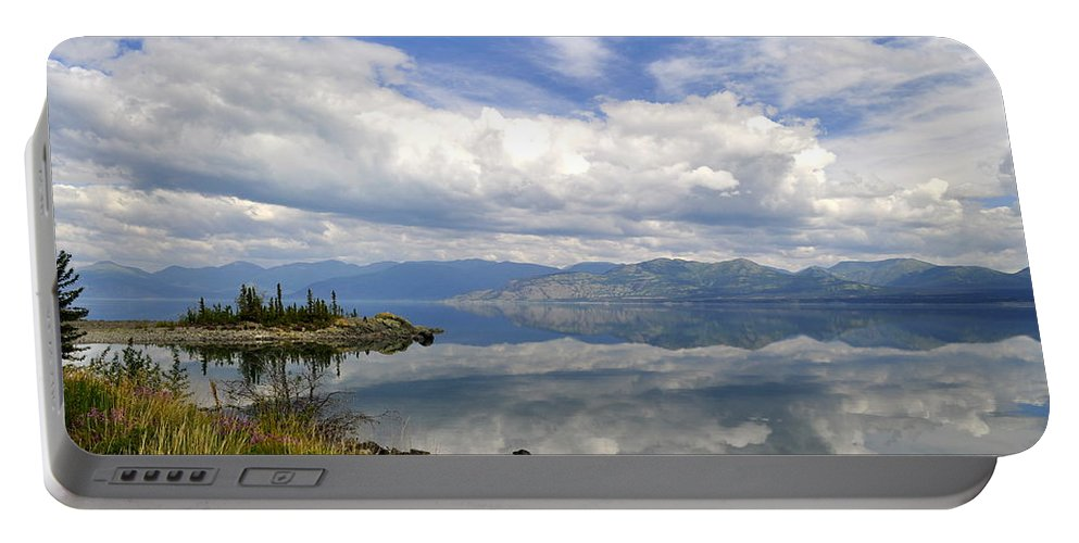 Lake Portable Battery Charger featuring the photograph Kluane Reflections by Cathy Mahnke