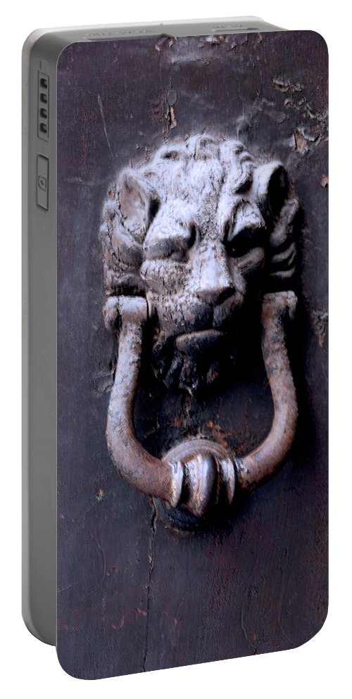 Door Knocker Portable Battery Charger featuring the photograph Knock Knock by Eric Tressler