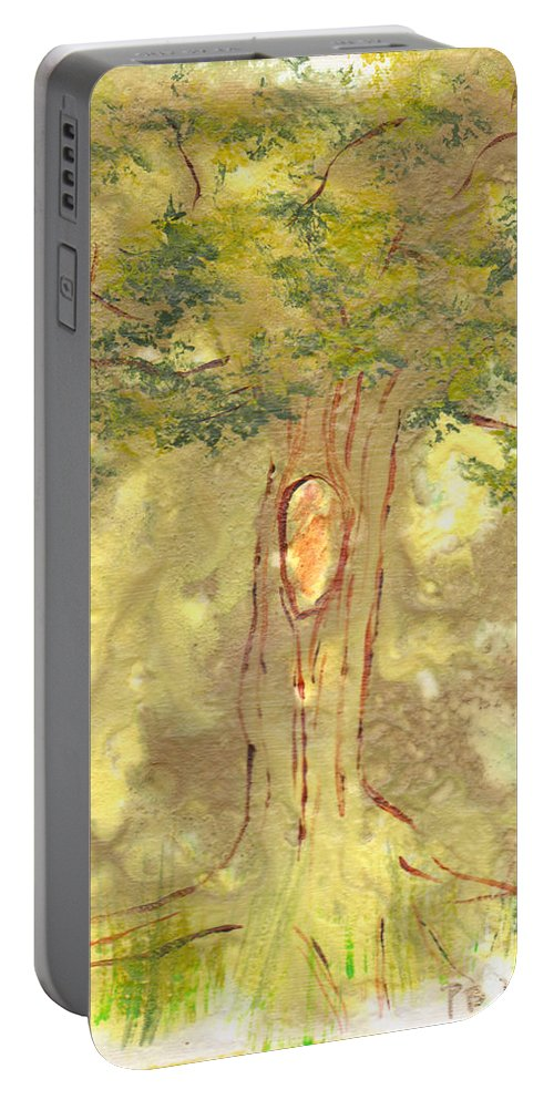 Tree Portable Battery Charger featuring the painting Knot by Paulette B Wright