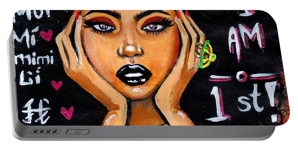 Artbyria Portable Battery Charger featuring the photograph Know Yourself by Artist RiA