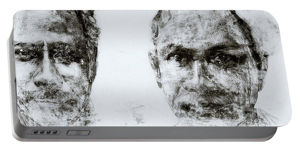 Graffiti Portable Battery Charger featuring the photograph Men Of Cochin by Shaun Higson