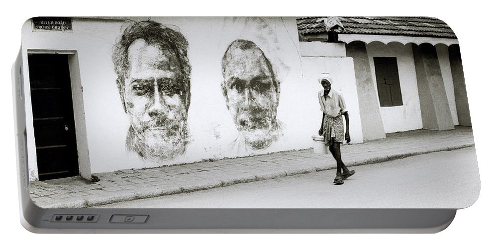 India Portable Battery Charger featuring the photograph Kochi Urban Art by Shaun Higson