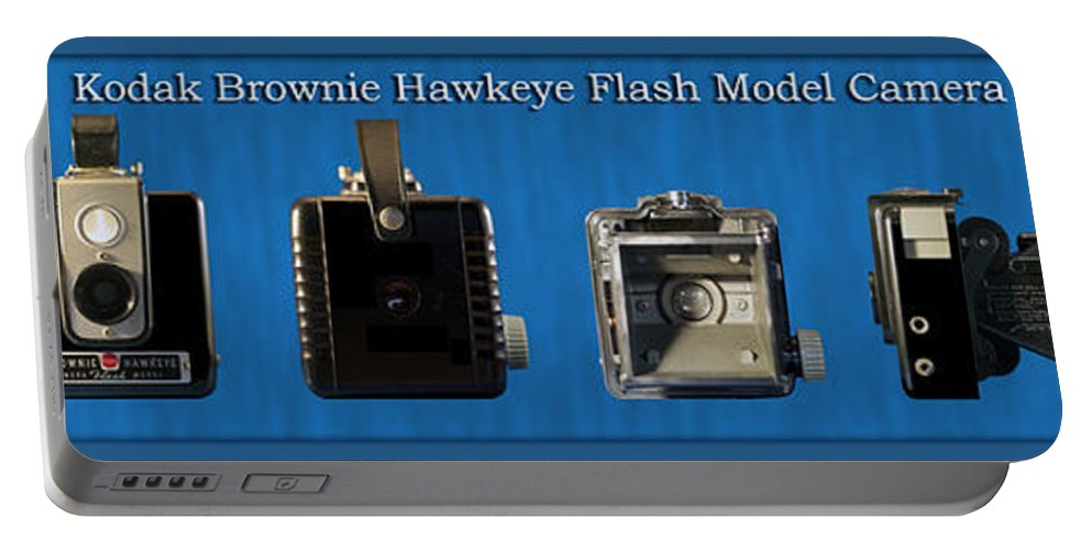 Kodak Portable Battery Charger featuring the photograph Kodak Brownie Hawkeye Camera by Thomas Woolworth