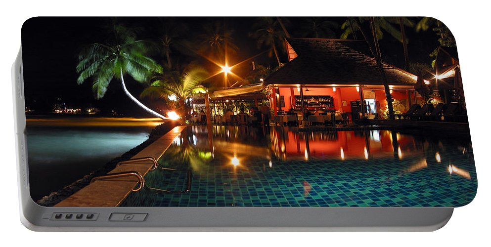 3scape Portable Battery Charger featuring the photograph Koh Samui Beach Resort by Adam Romanowicz