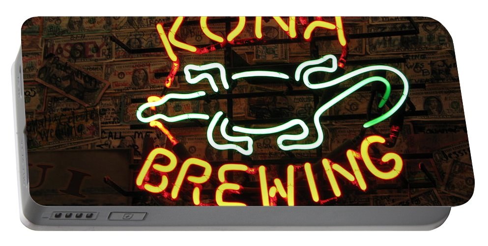 Beer Portable Battery Charger featuring the photograph Kona Brewing Company by Michael Krek