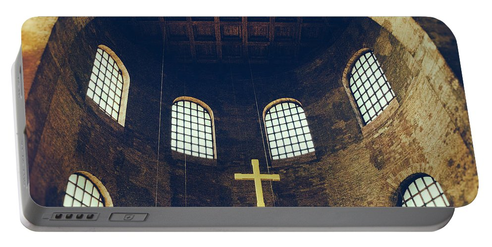 Ade Portable Battery Charger featuring the photograph Konstantin Basilika by TouTouke A Y
