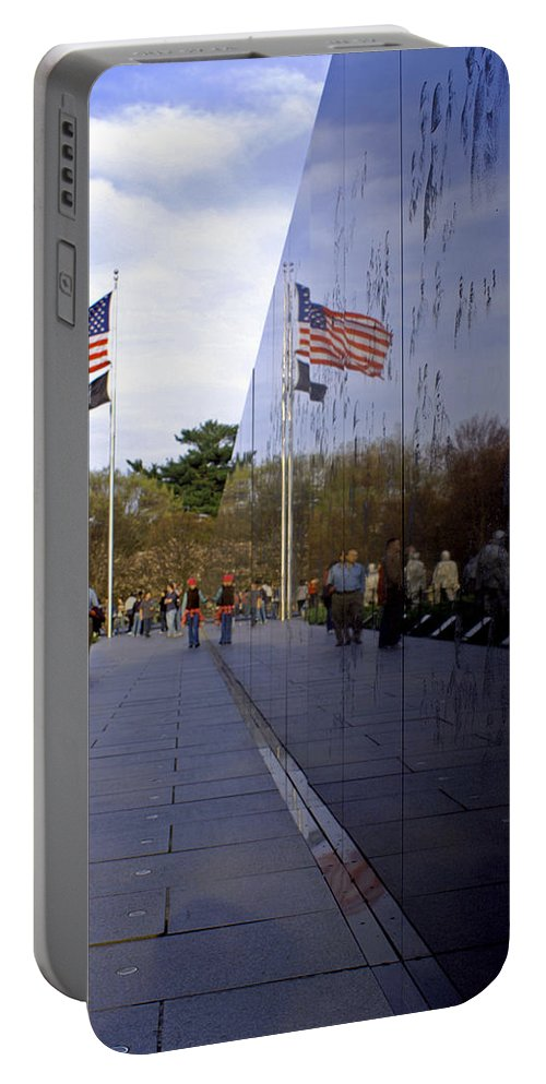 Washington D.c. Portable Battery Charger featuring the photograph Korea Memorial by Pablo Rosales