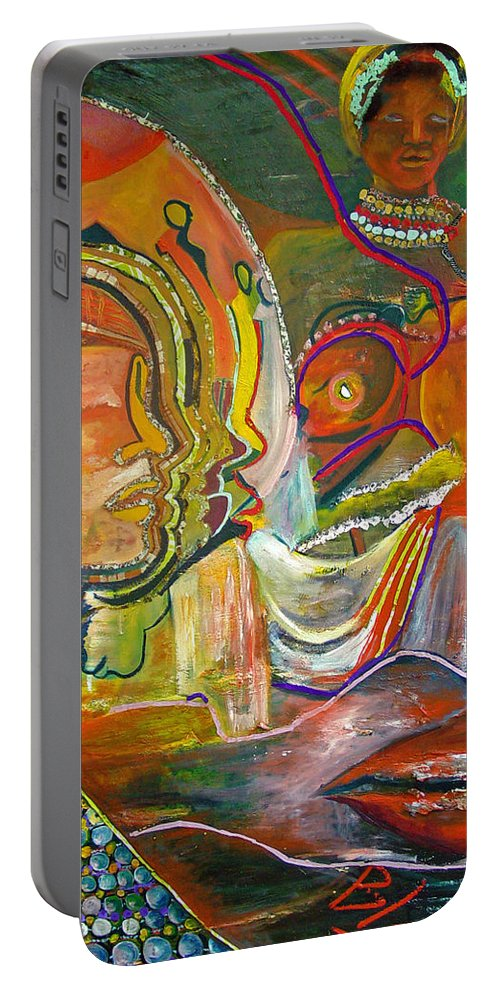 Impressionism Portable Battery Charger featuring the painting Koulikoro Woman by Peggy Blood