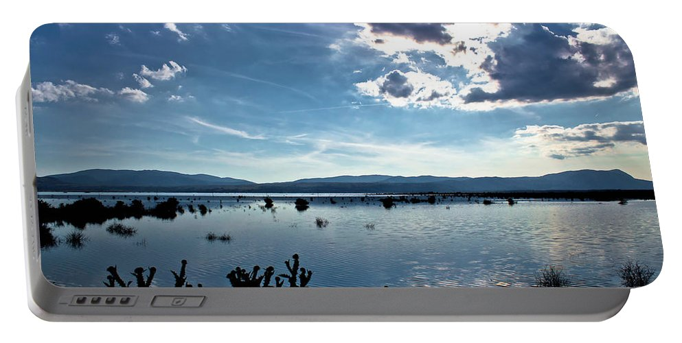 Landscape Portable Battery Charger featuring the photograph Krbava Field Of Lika Blue Lake by Brch Photography