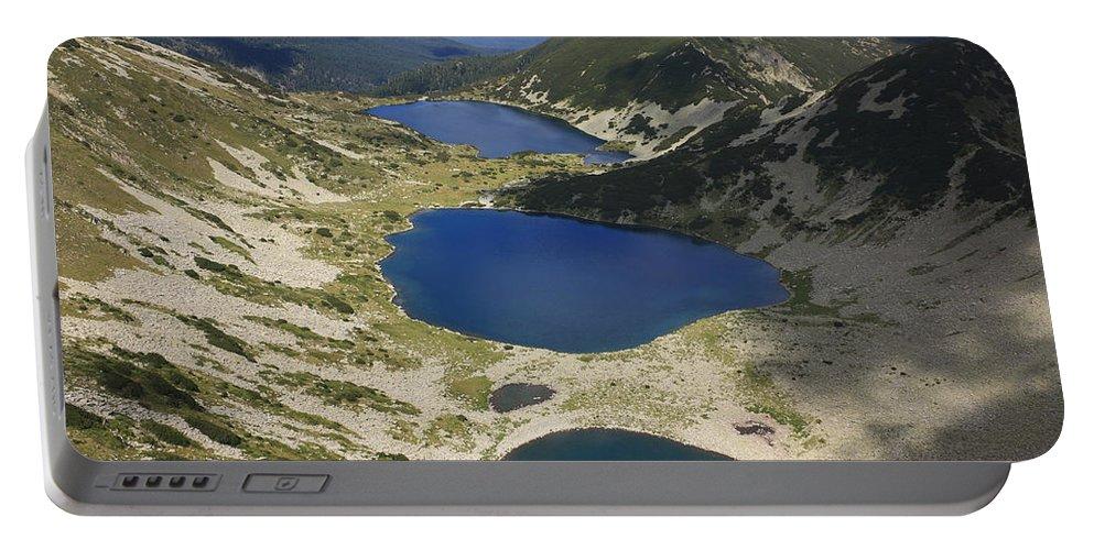 Balkan Peninsula Portable Battery Charger featuring the photograph Kremenski Lakes Pirin National Park Bulgaria by Ivan Pendjakov