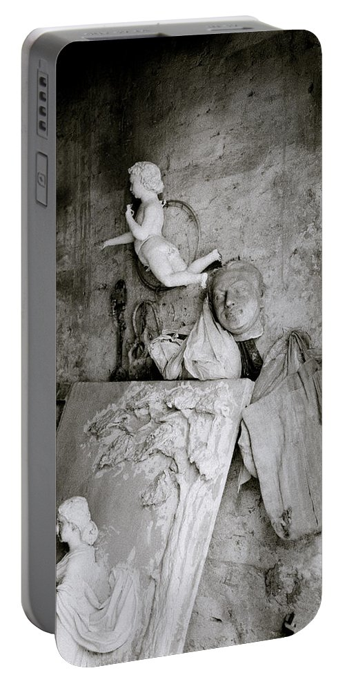 Angel Portable Battery Charger featuring the photograph Kumartuli Angel by Shaun Higson
