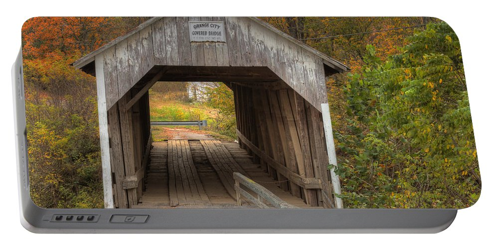 Hillsboro Portable Battery Charger featuring the photograph Ky Hillsboro Or Grange City Covered Bridge by Jack R Perry