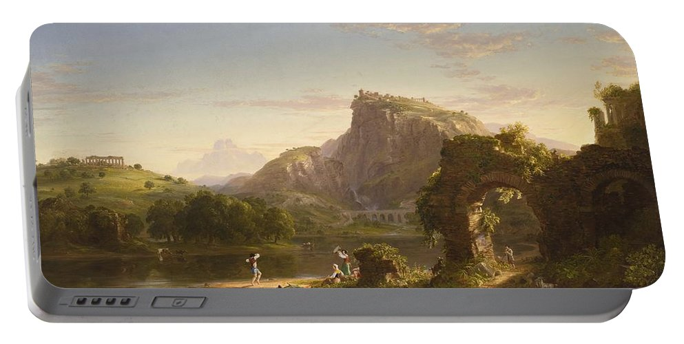 L Allegro Portable Battery Charger featuring the digital art L Allegro by Thomas Cole