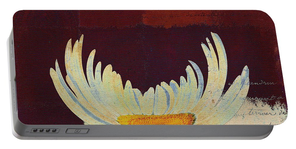 red Wine Portable Battery Charger featuring the digital art La Marguerite - Love Red Wine by Variance Collections