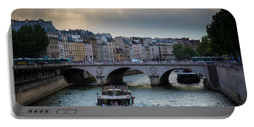 Europa Portable Battery Charger featuring the photograph La Seine by Inge Johnsson