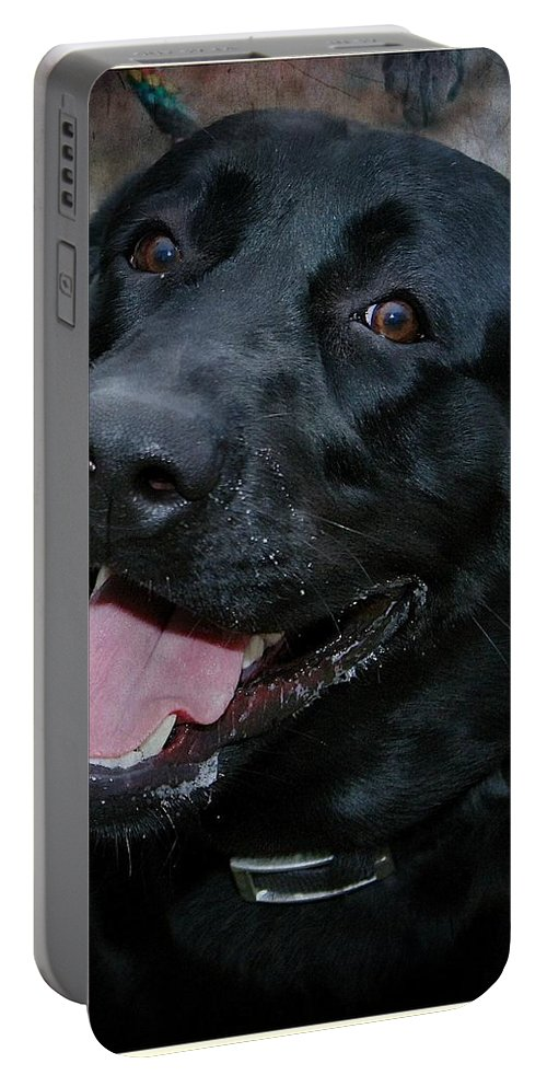 Labrador Portable Battery Charger featuring the photograph Lab Smile by Joyce Baldassarre