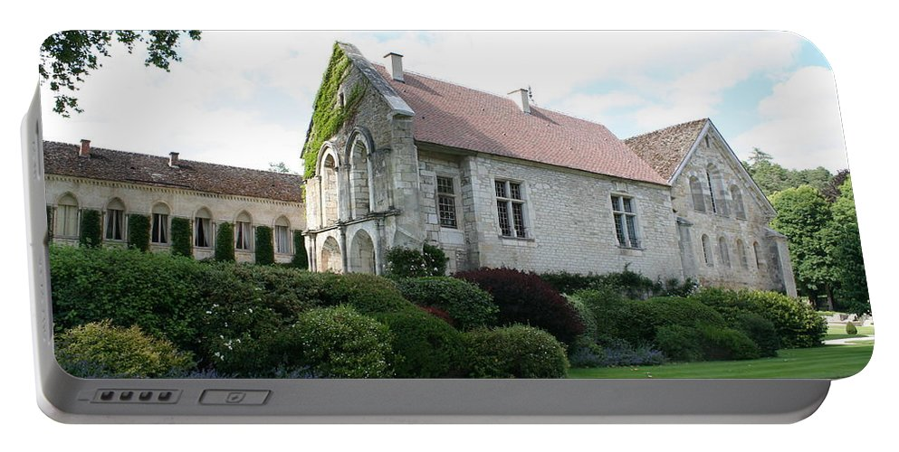 Abbey Portable Battery Charger featuring the photograph L'abbaye De Fontenay by Christiane Schulze Art And Photography
