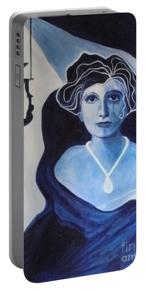 Balance Portable Battery Charger featuring the painting Lack Of Trust by Carolyn LeGrand