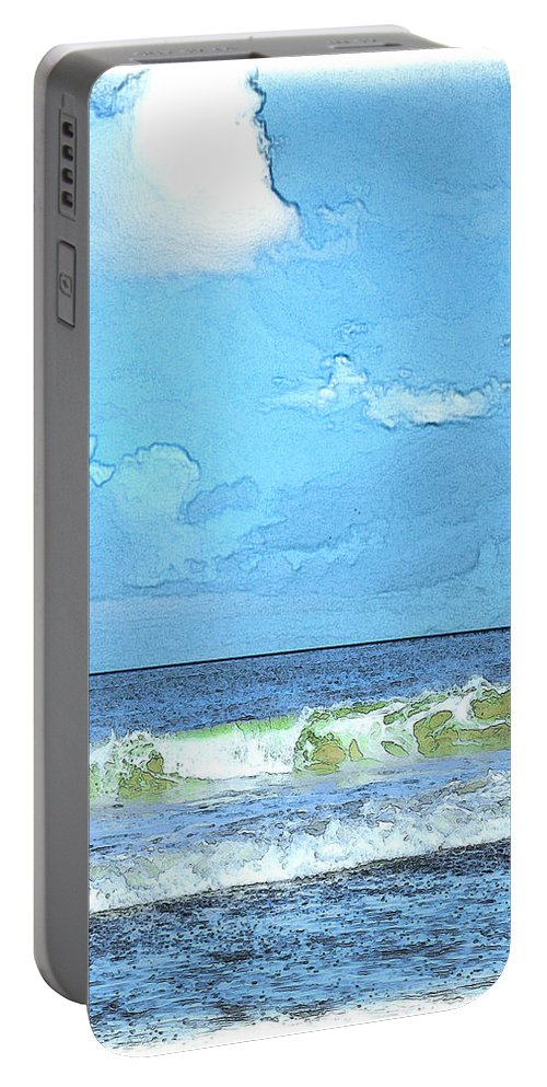 Beach Portable Battery Charger featuring the digital art Lacount Hollow by William Sargent