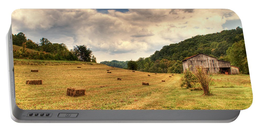 Lacy Portable Battery Charger featuring the photograph Lacy Farm Morgan County Kentucky by Douglas Barnett