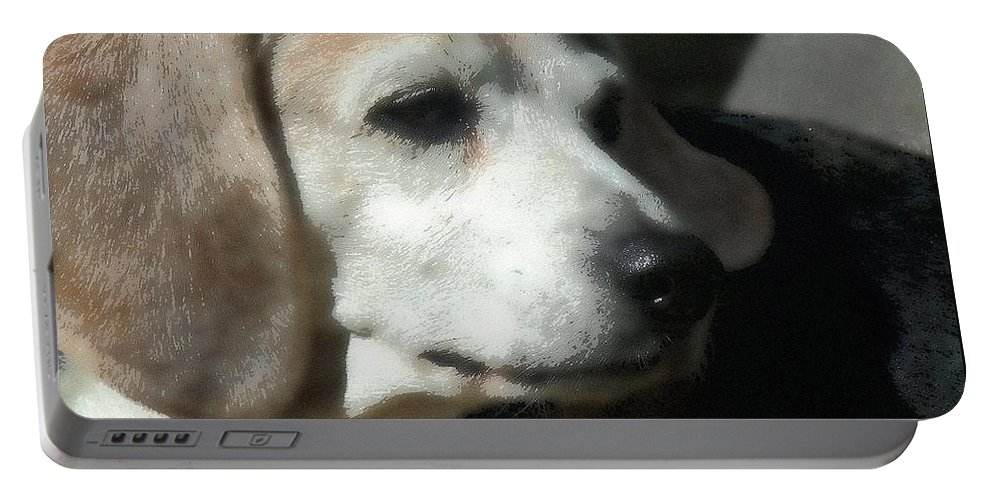Dog Portable Battery Charger featuring the photograph Lady 15 by April Patterson