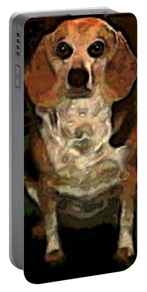 Dog Portable Battery Charger featuring the photograph Lady 9 by April Patterson