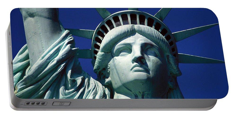 Lady Liberty Portable Battery Charger featuring the photograph Lady Liberty by Jon Neidert