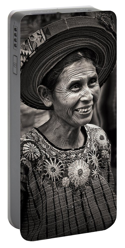 Lady Portable Battery Charger featuring the photograph Lady Of Santiago Atitlan by Tom Bell