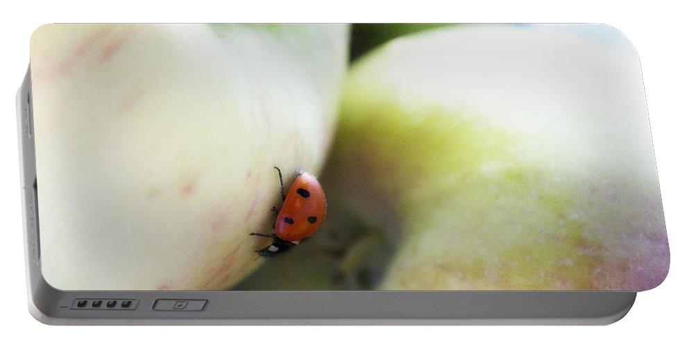 Fruit Portable Battery Charger featuring the photograph Lady On The Macs by Lisa Knechtel