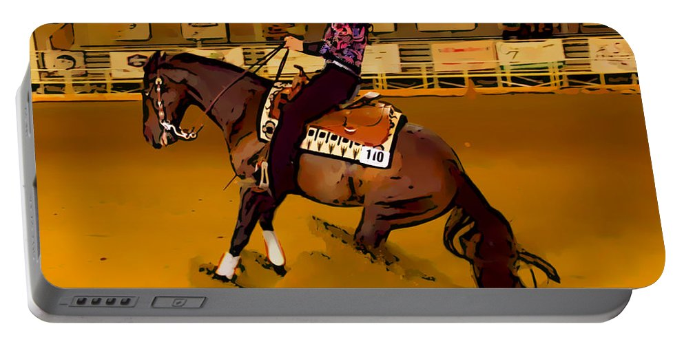 Horse Portable Battery Charger featuring the photograph Lady Slide by Alice Gipson